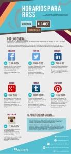 Horarios en las redes sociales