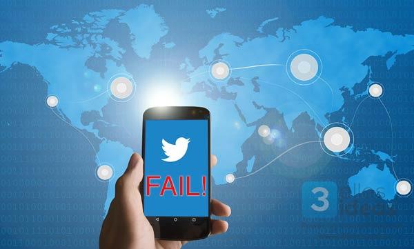 fallos en twitter