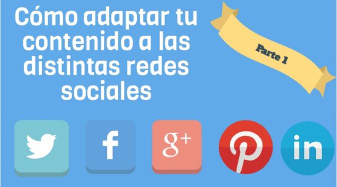 Cómo adaptar contenido a distintas redes sociales (Parte 1)
